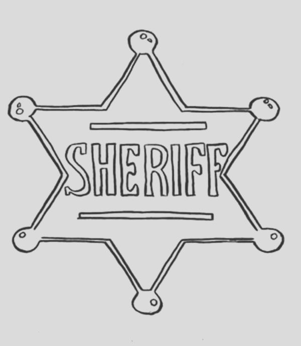 sheriff star coloring pages