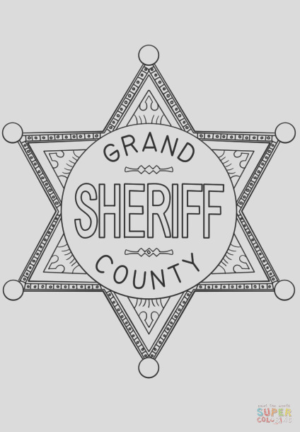 sheriff badge coloring pages