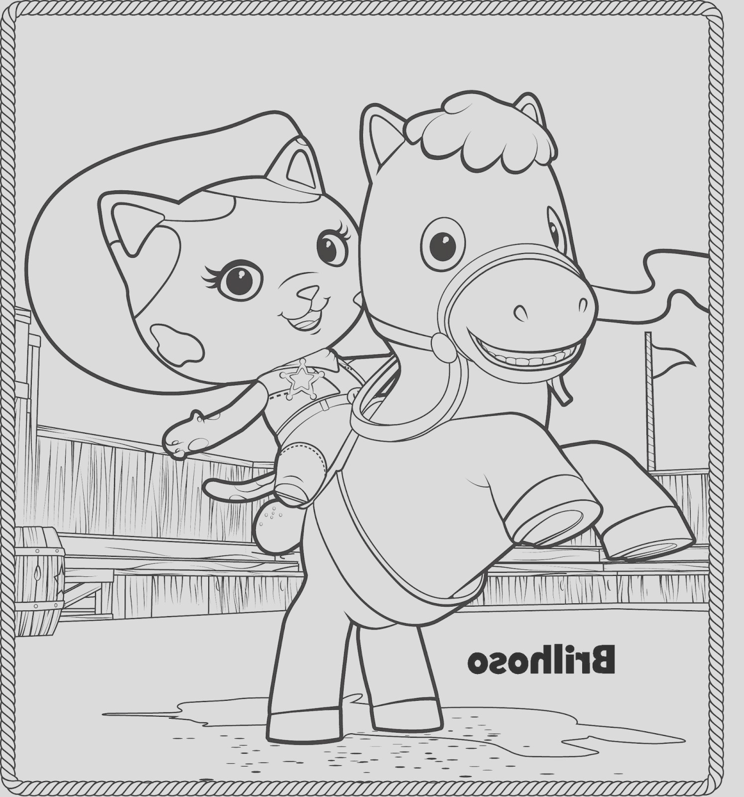 disney junior sheriff callie coloring pages sketch templates