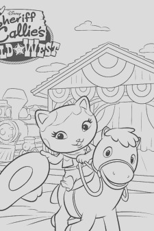 sheriff callie colouring page 3