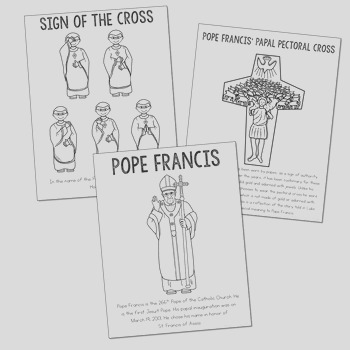 FREEBIE Sign of the Cross and Pope Francis Posters and Coloring Pages Catholic