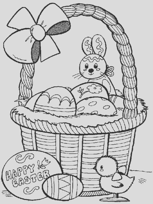 Kids Easter themed coloring pages print these spring and egg pictures to color in