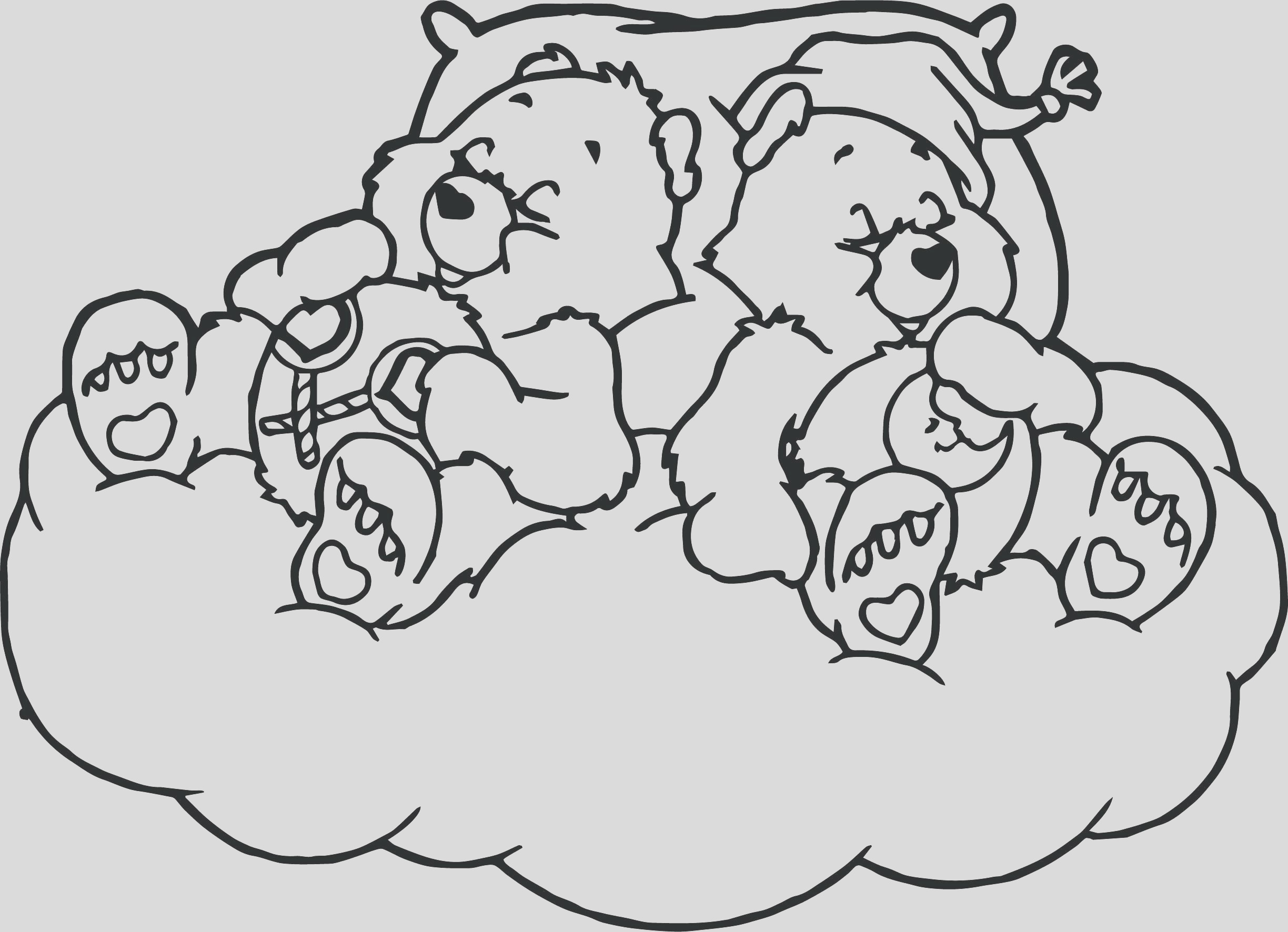 sleeping bear drawing