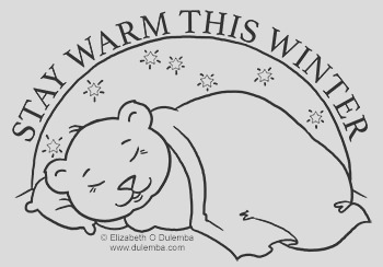 coloring page tuesday sleeping bear