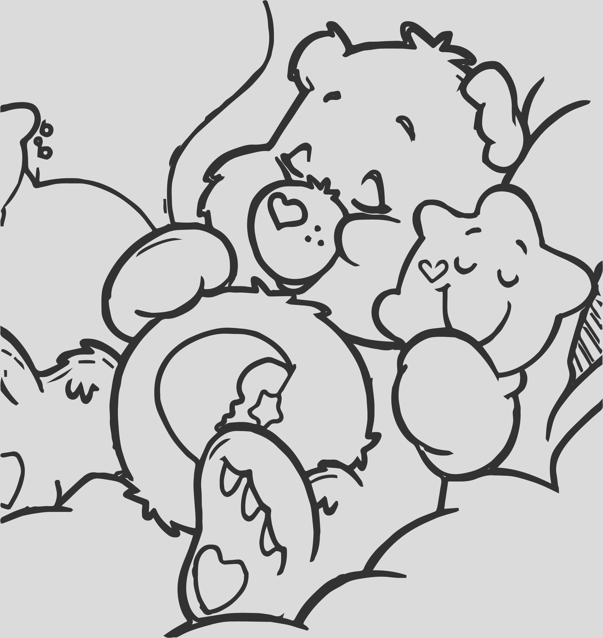 sleeping bear star coloring page