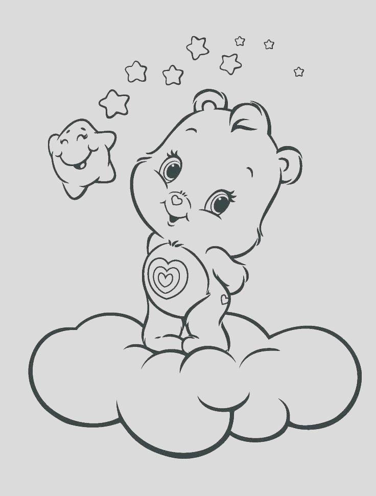 hibernating bear coloring page