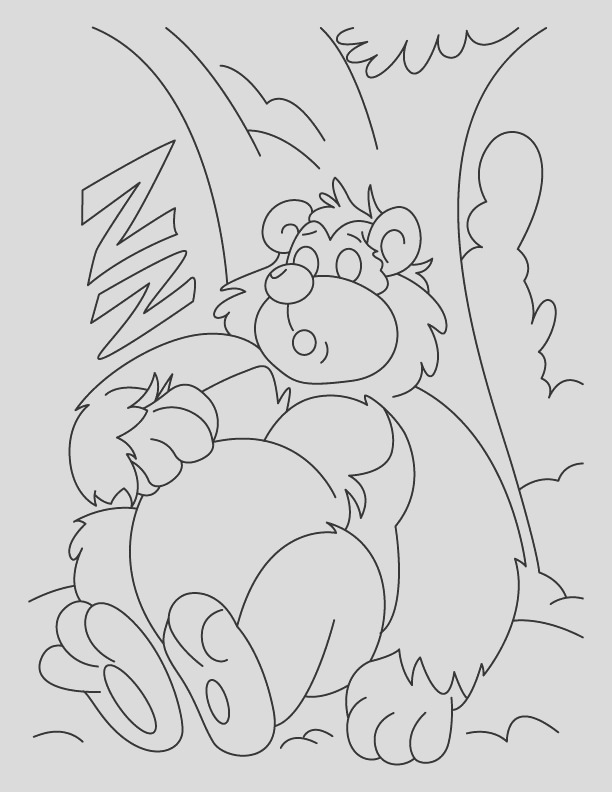 sleeping bear coloring pages 1d532