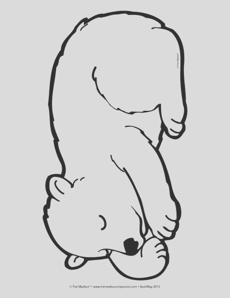 sleeping bear coloring page