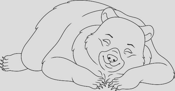 sleeping bear coloring page gm