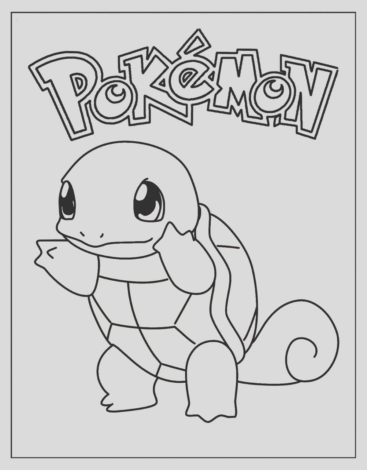 Squirtle Coloring Page New Le