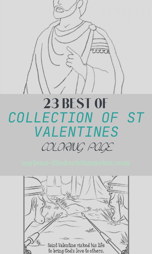 St Valentines Coloring Page New St Valentine Coloring Page February 14th – Catholic