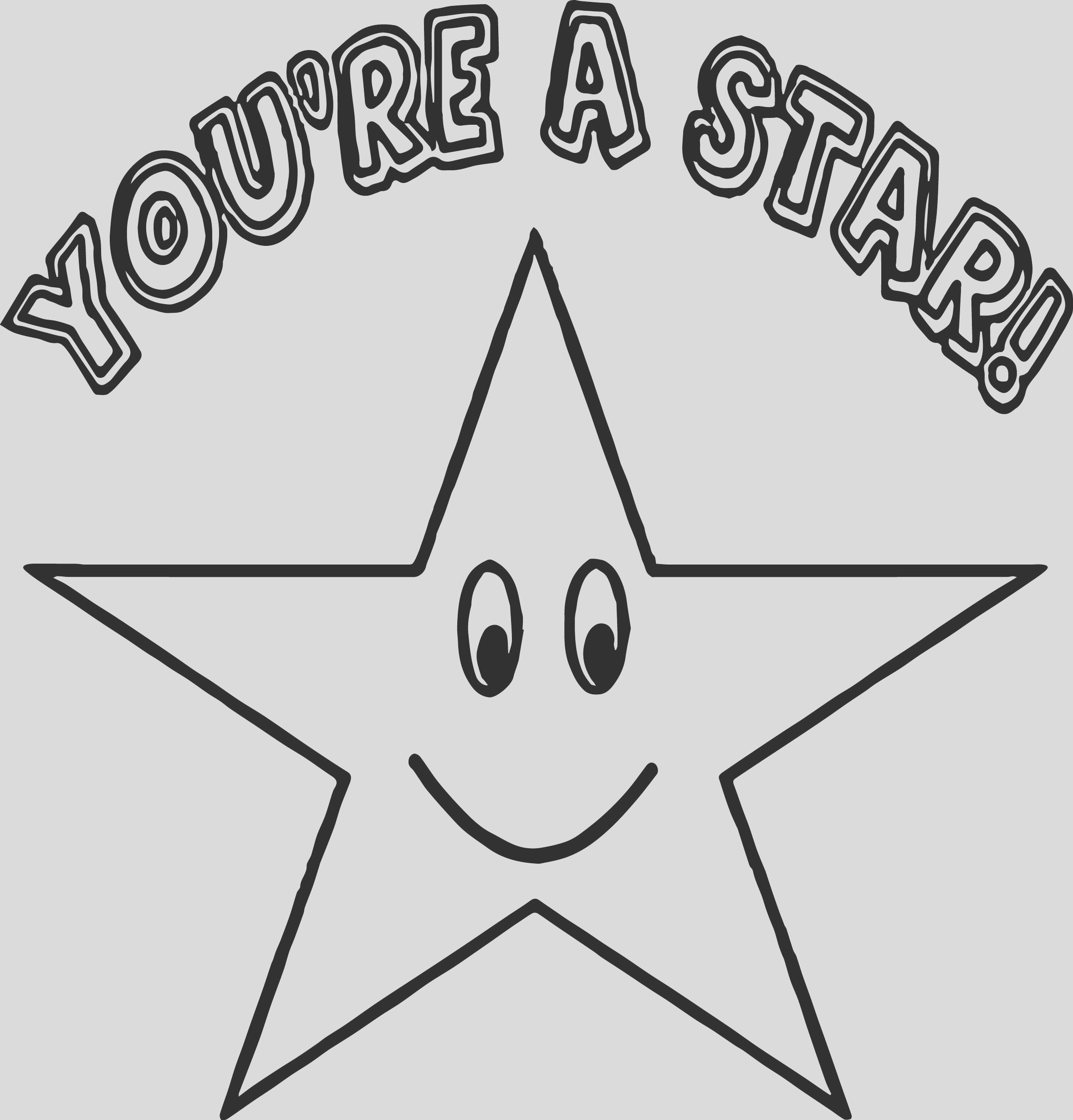 star happy star coloring page