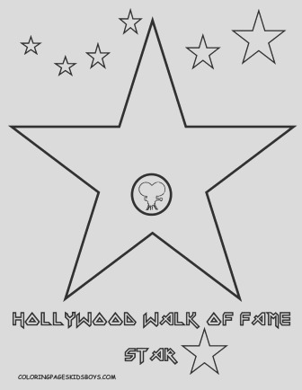 movie star coloring page