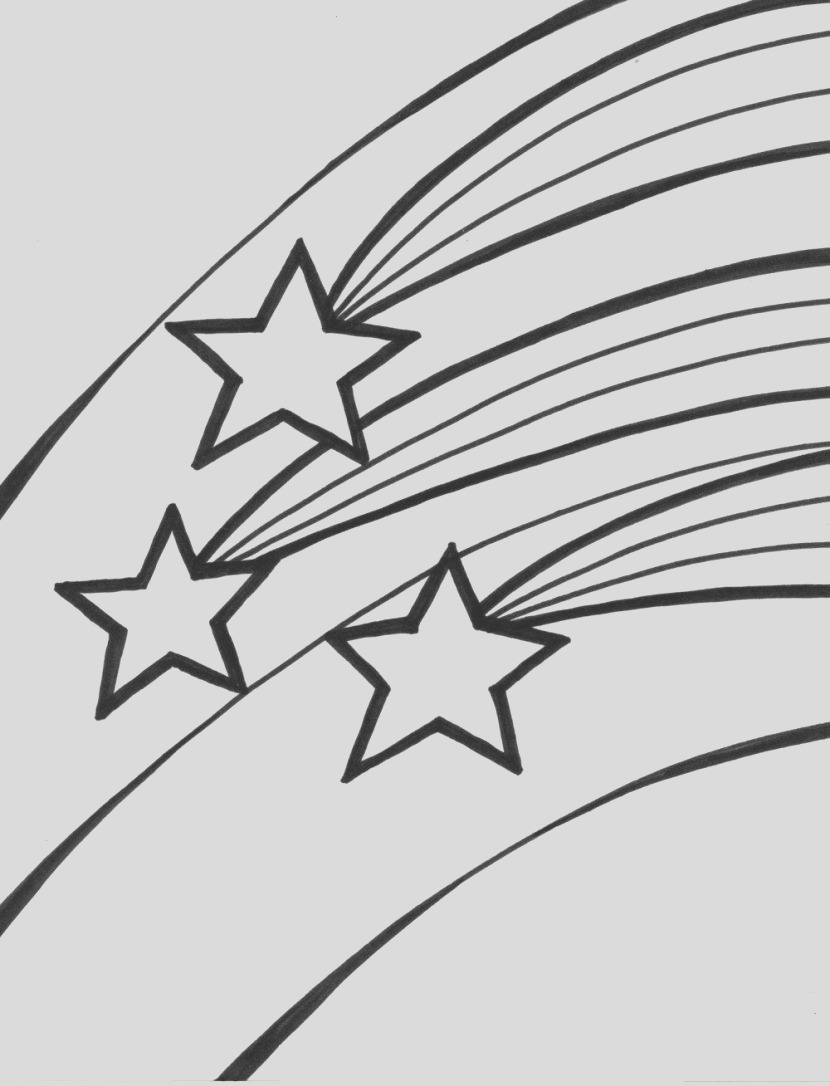 free clipart shooting star outline