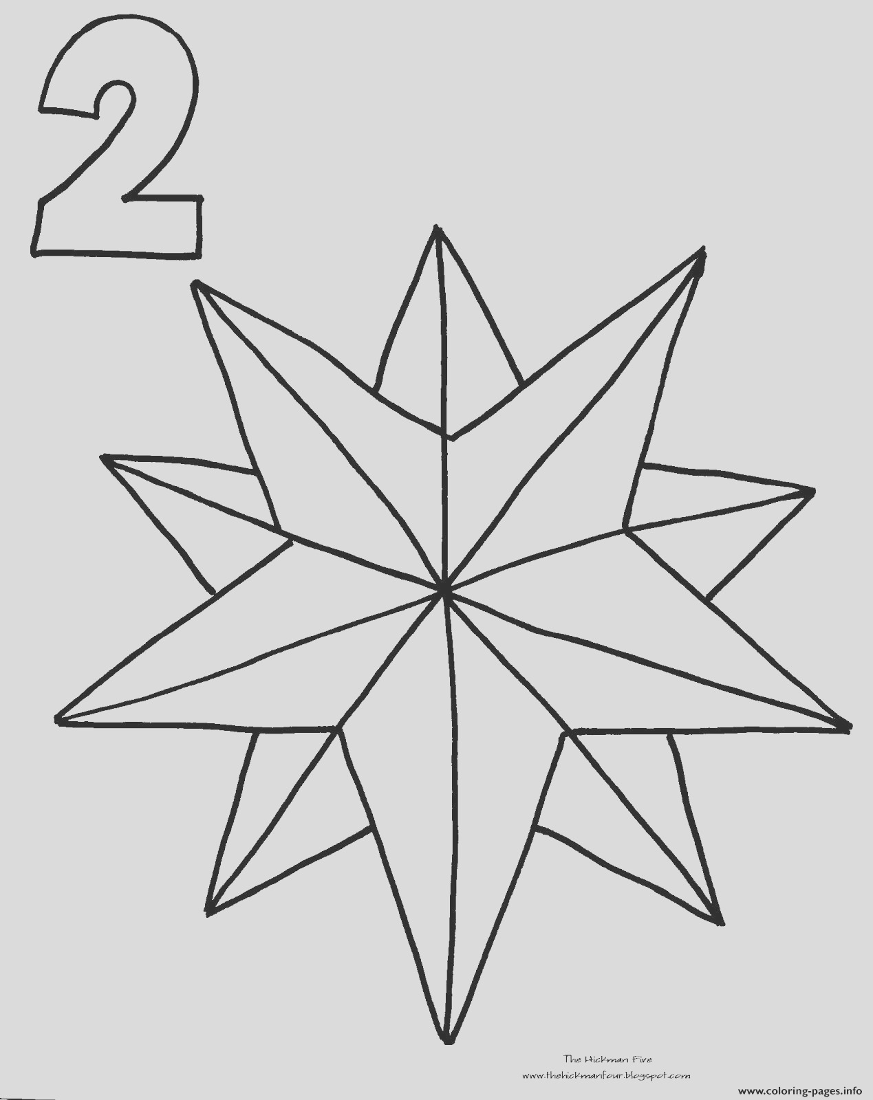 christmas star countdown printable coloring pages book