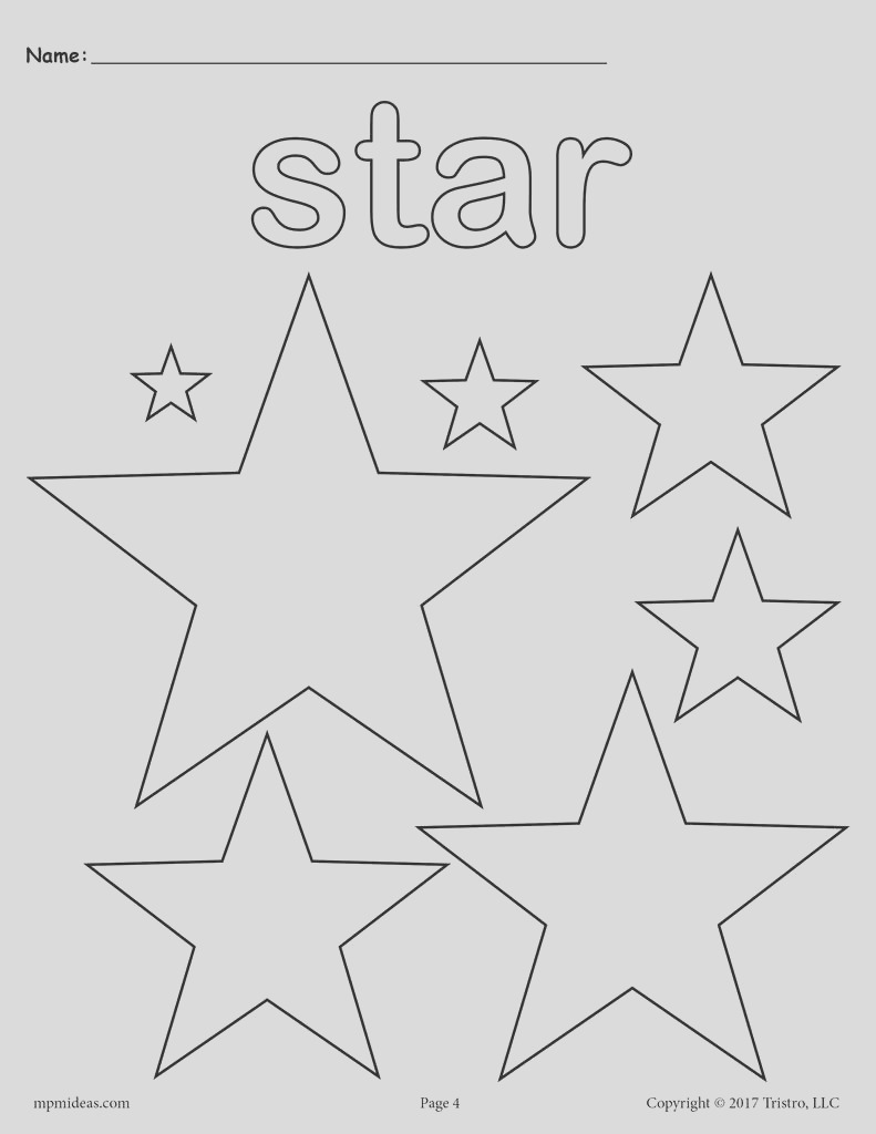 free stars coloring page a7598