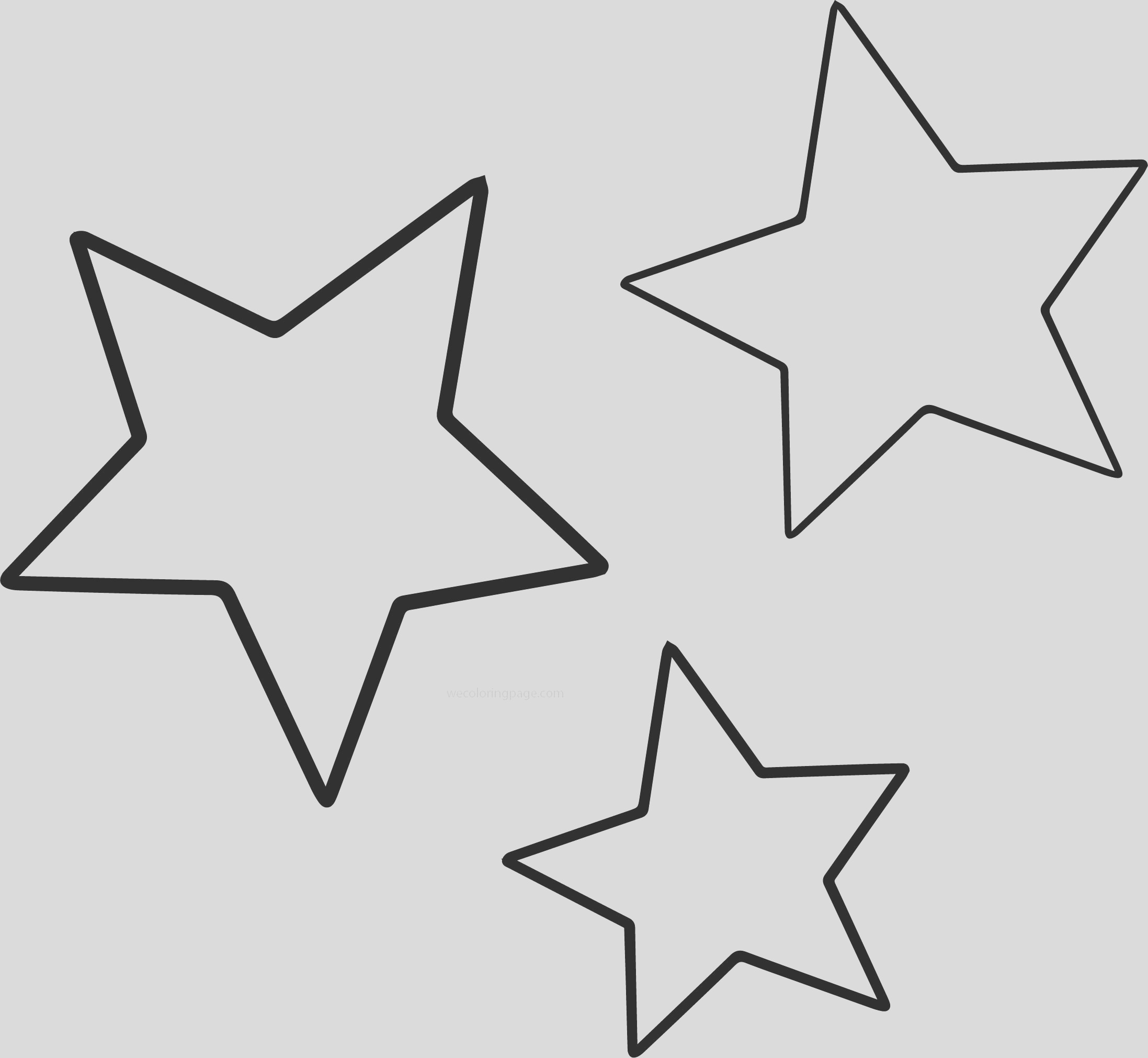 three star coloring pages