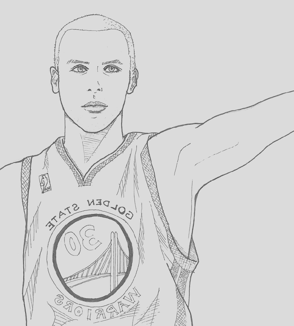 stephen curry coloring pages smallwaterfish
