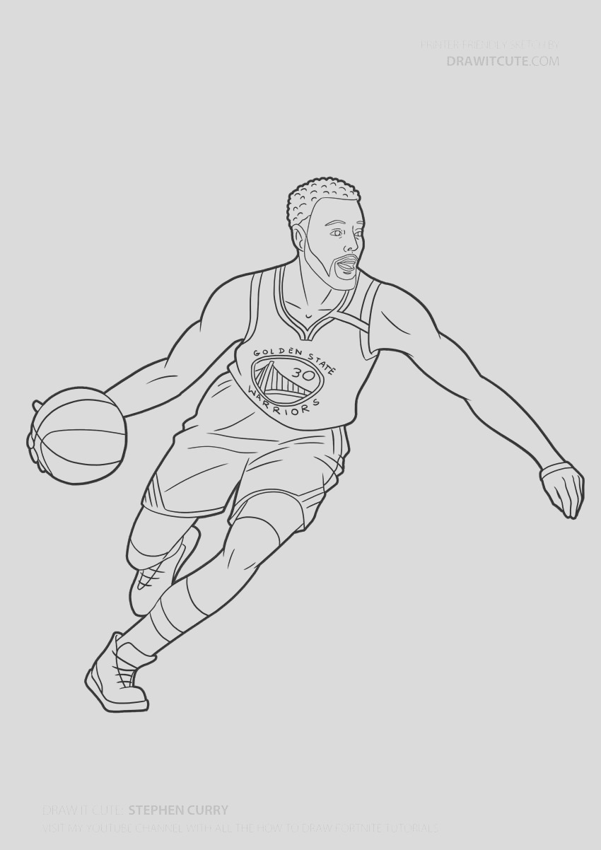 how to draw stephen curry nba step by step guide