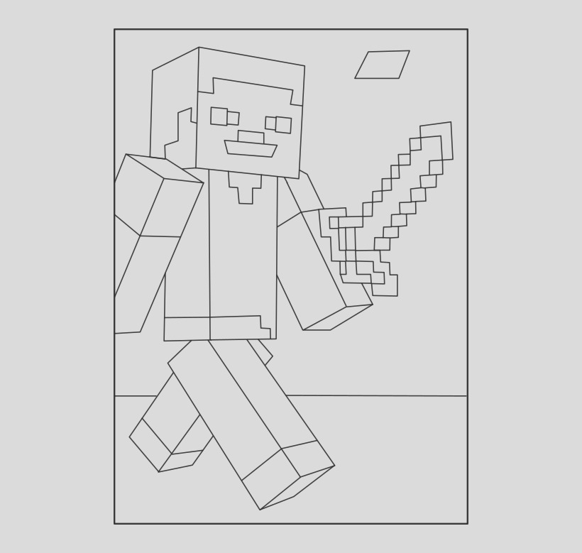 u2q8q8y3t4y3i1t4 minecraft steve 1 on coloring page steve minecraft