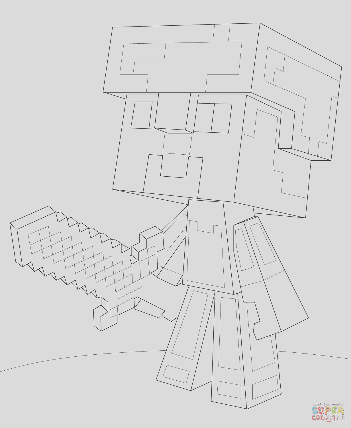 minecraft steve diamond armor