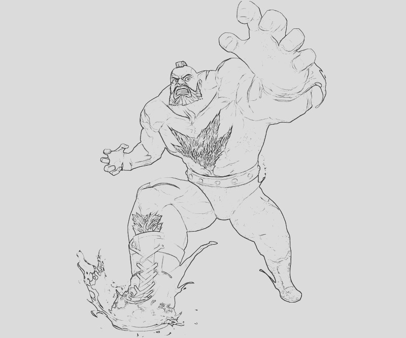 street fighter zangief action