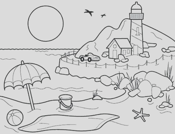 sunrise coloring page