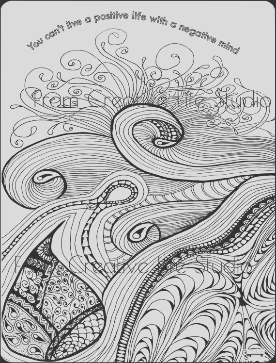 sunrise swirl adult coloring page