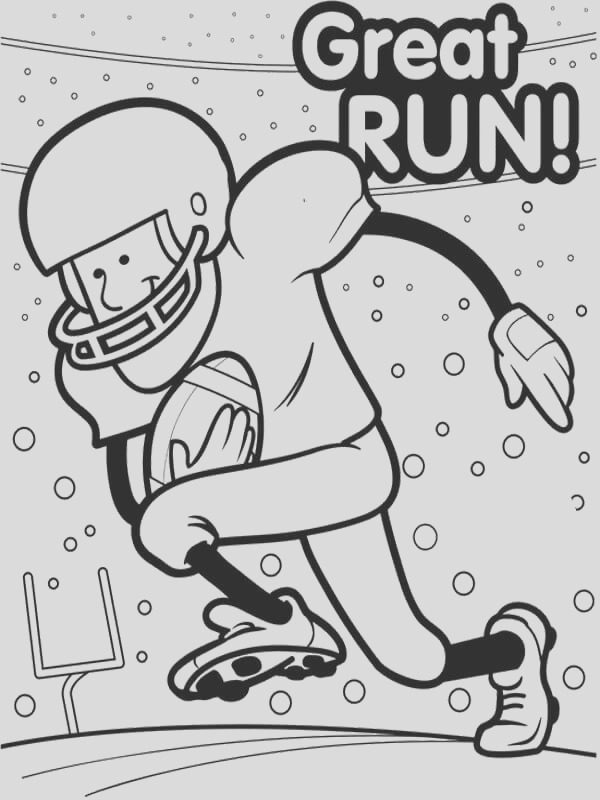 super bowl coloring pages