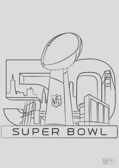 super bowl trophy coloring pages