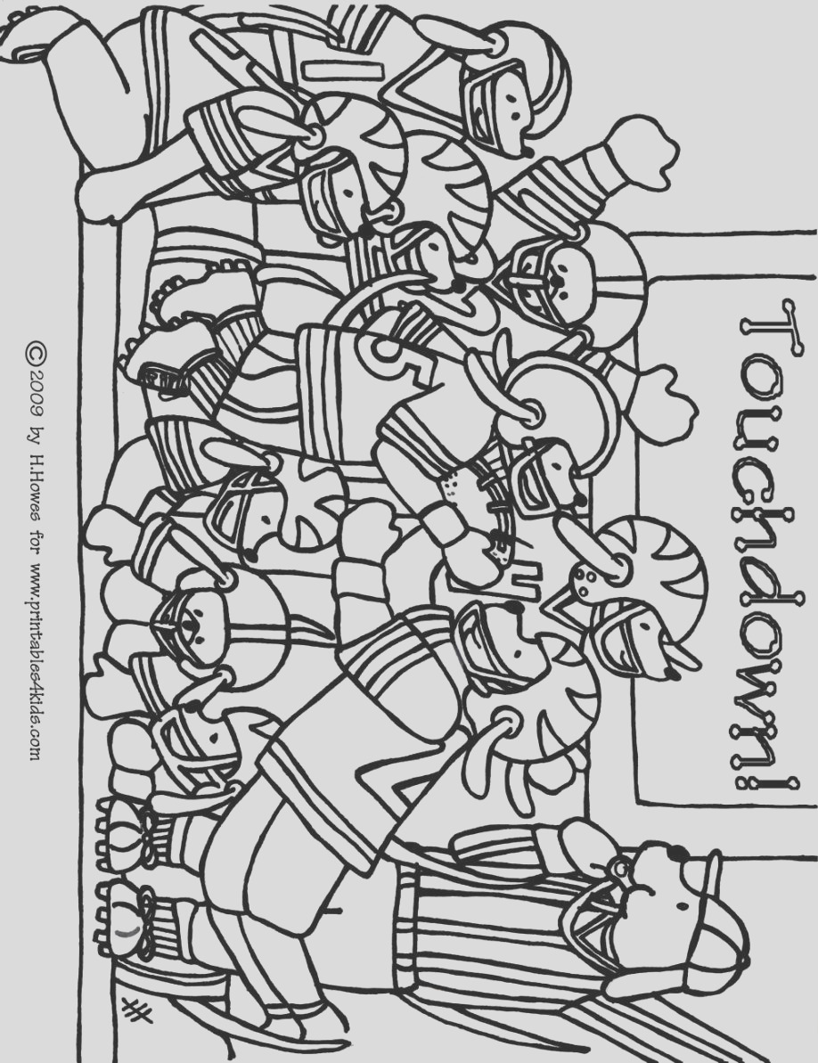 free superbowl coloring pages