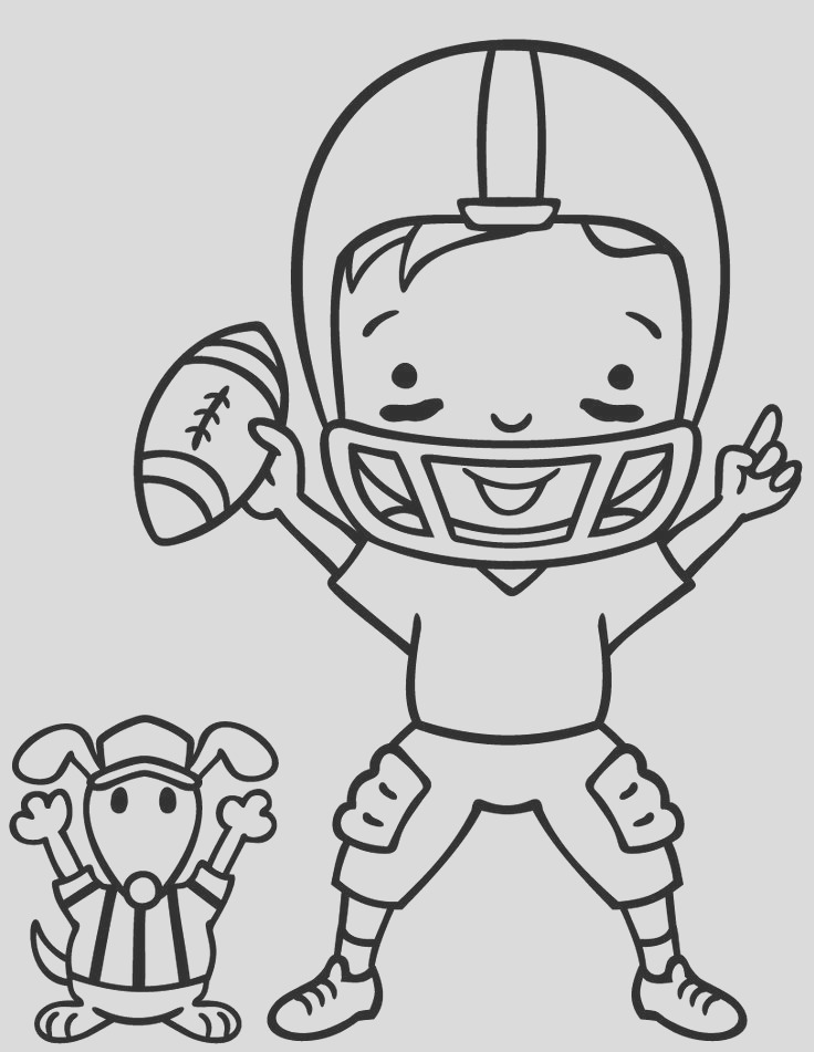 superbowl coloring pages