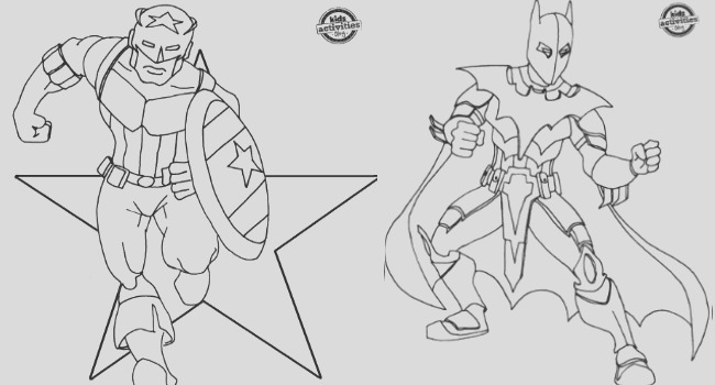 superhero inspired coloring pages