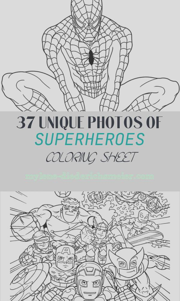 Superheroes Coloring Sheet Fresh Super Heros Coloring Pages Momjunction