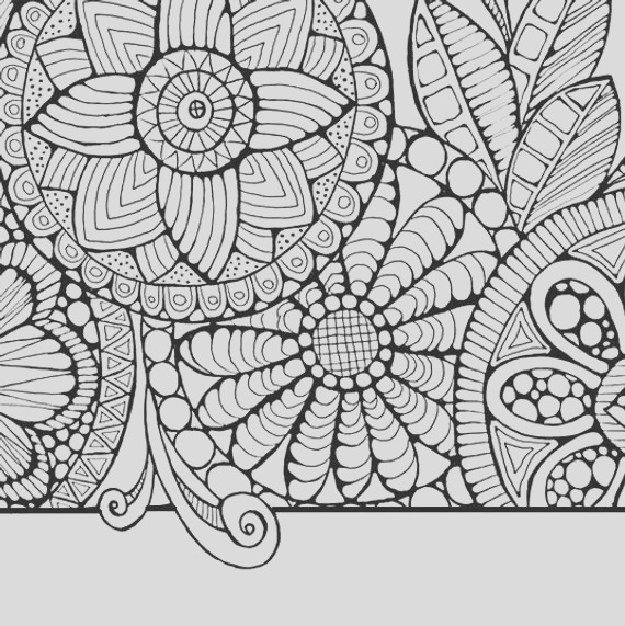 adult coloring pagecirlces and swirls