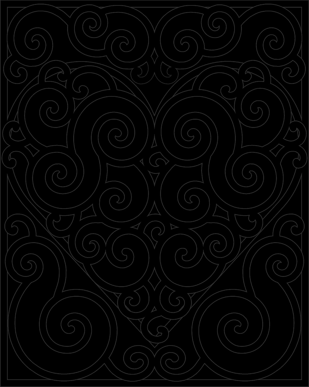 swirl pattern coloring pages sketch templates