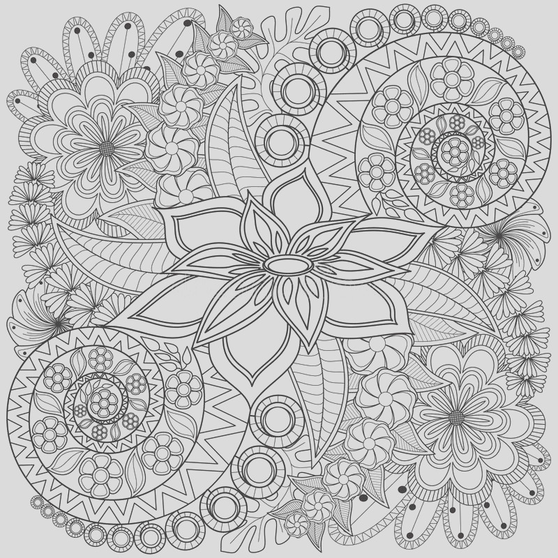 stock photo flower swirl coloring page pattern very detailed background texture image