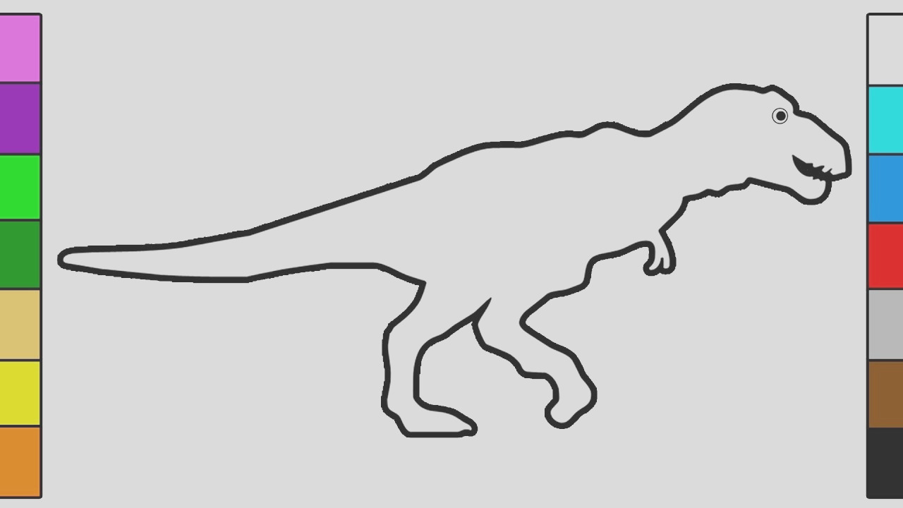 simple t rex drawing