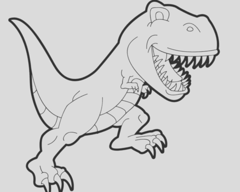 dinosaur t rex coloring pages kids