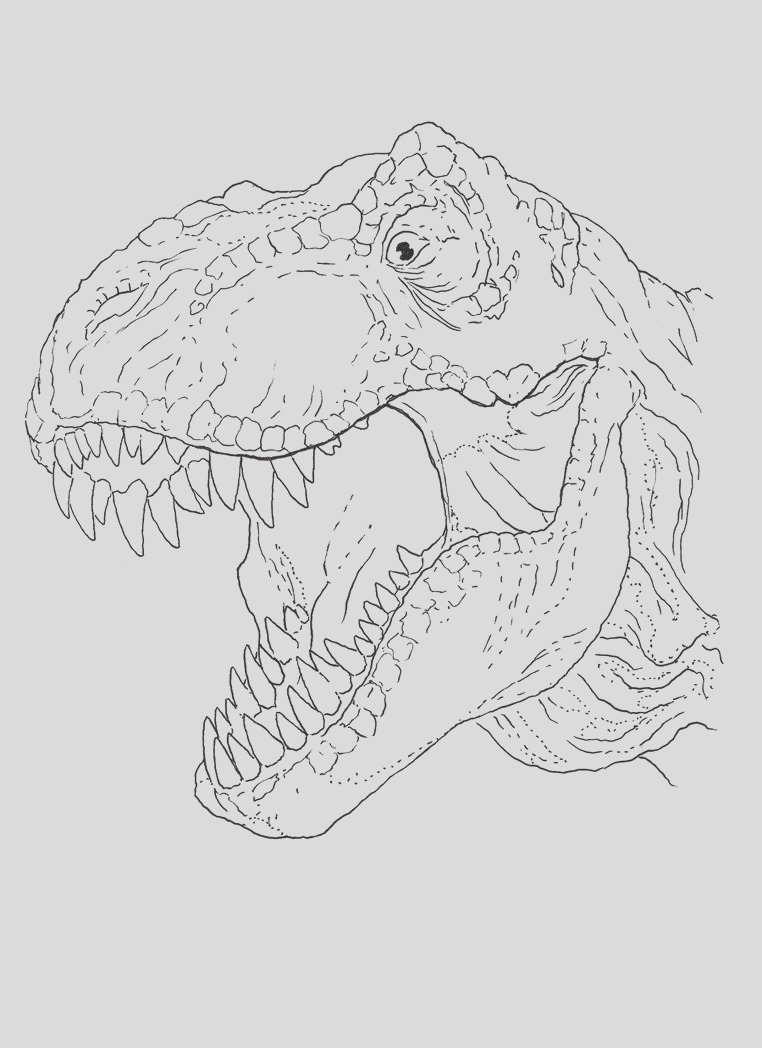 trex coloring pages