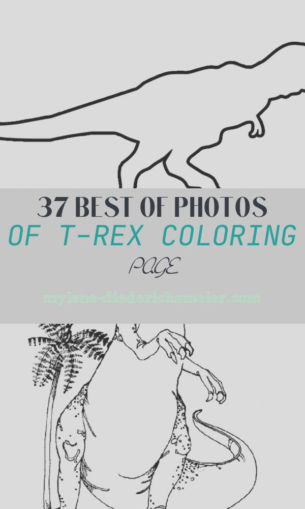T-rex Coloring Page Unique Dinosaur T Rex Coloring Pages for Kids