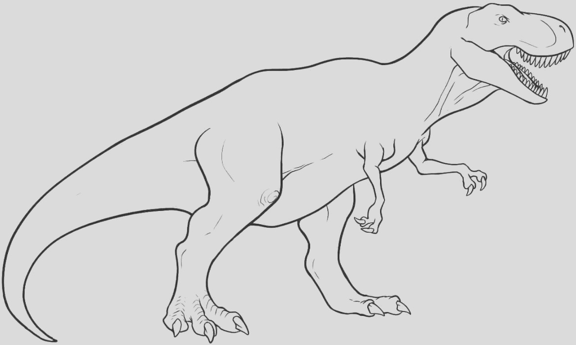 trex coloring page 2