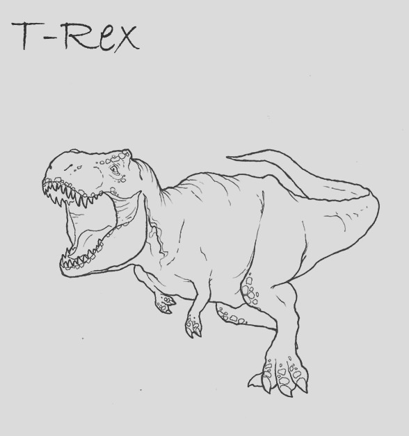 trex coloring page