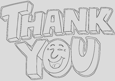 saying thank you coloring p