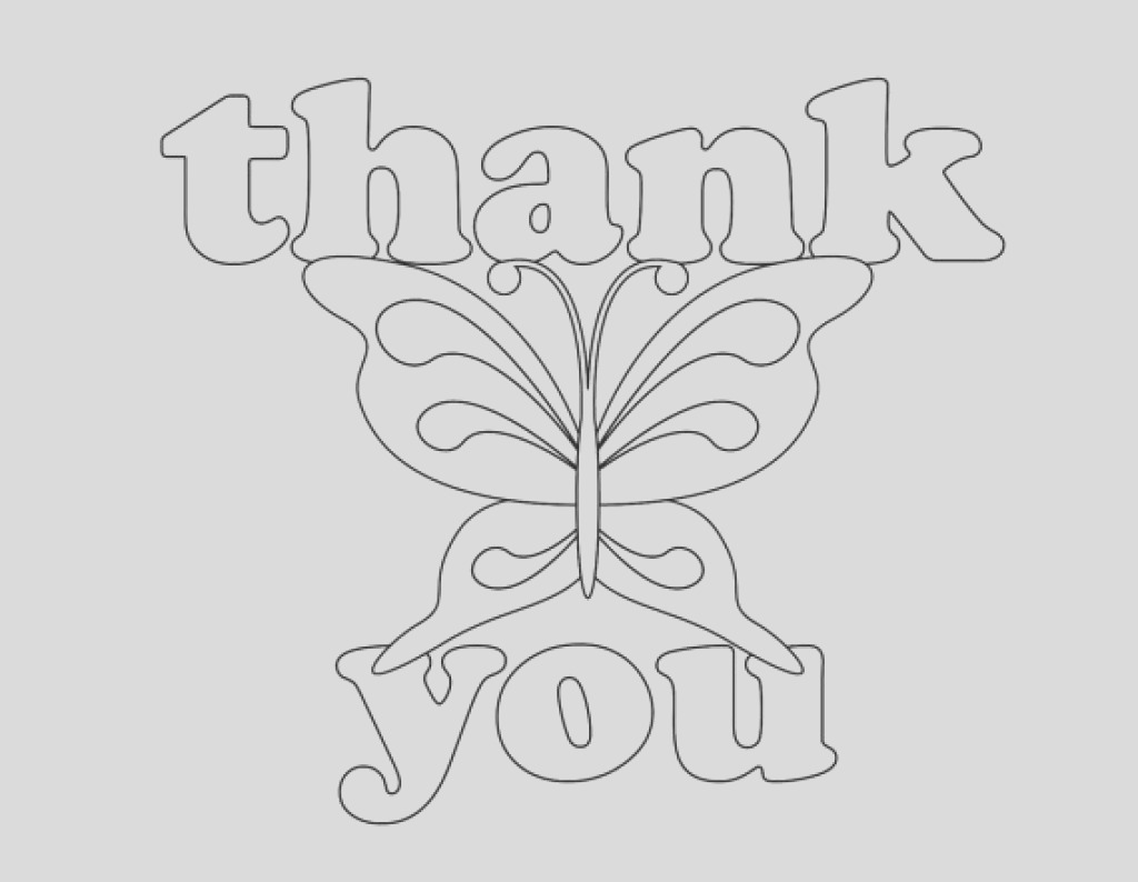 thank you card drawing