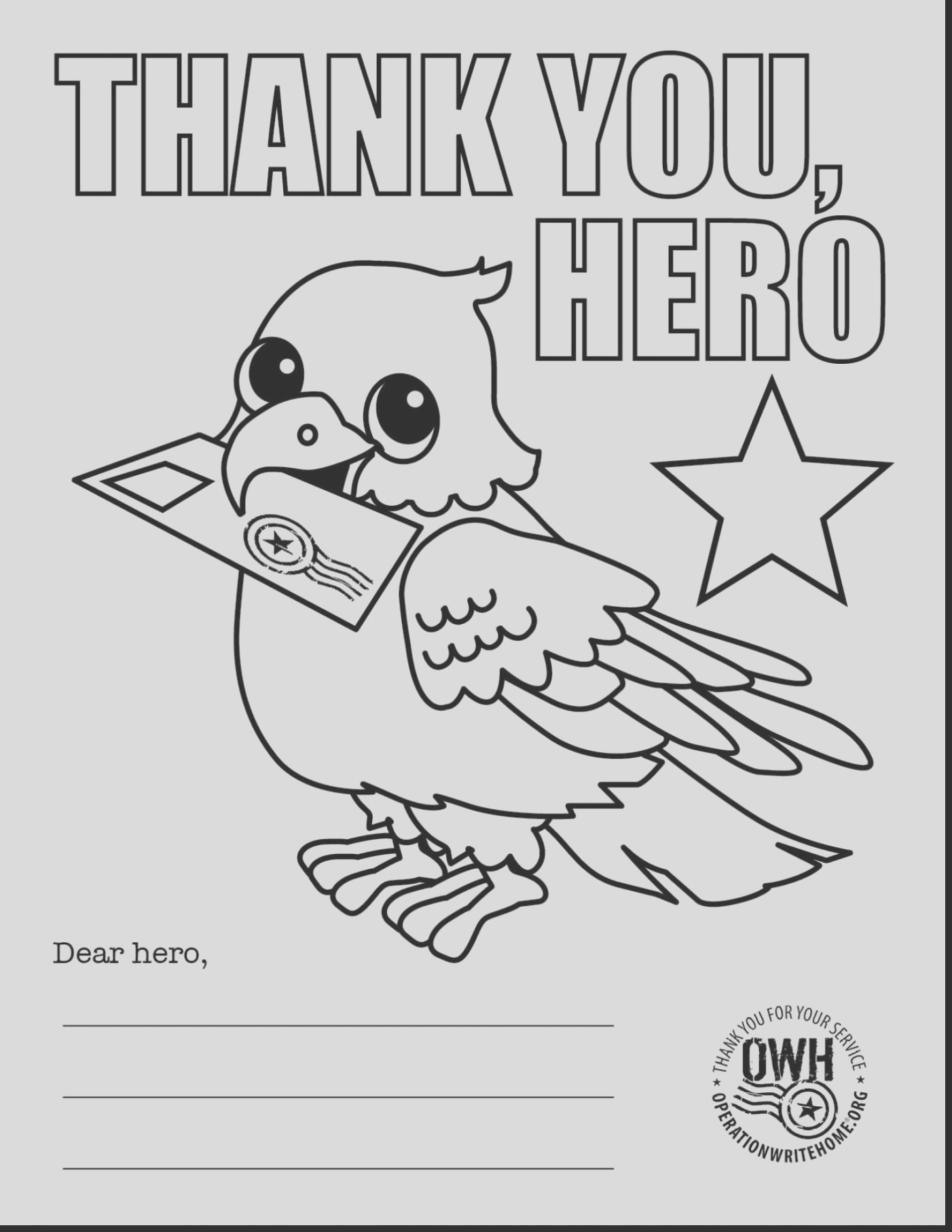 thank you firefighters coloring pages