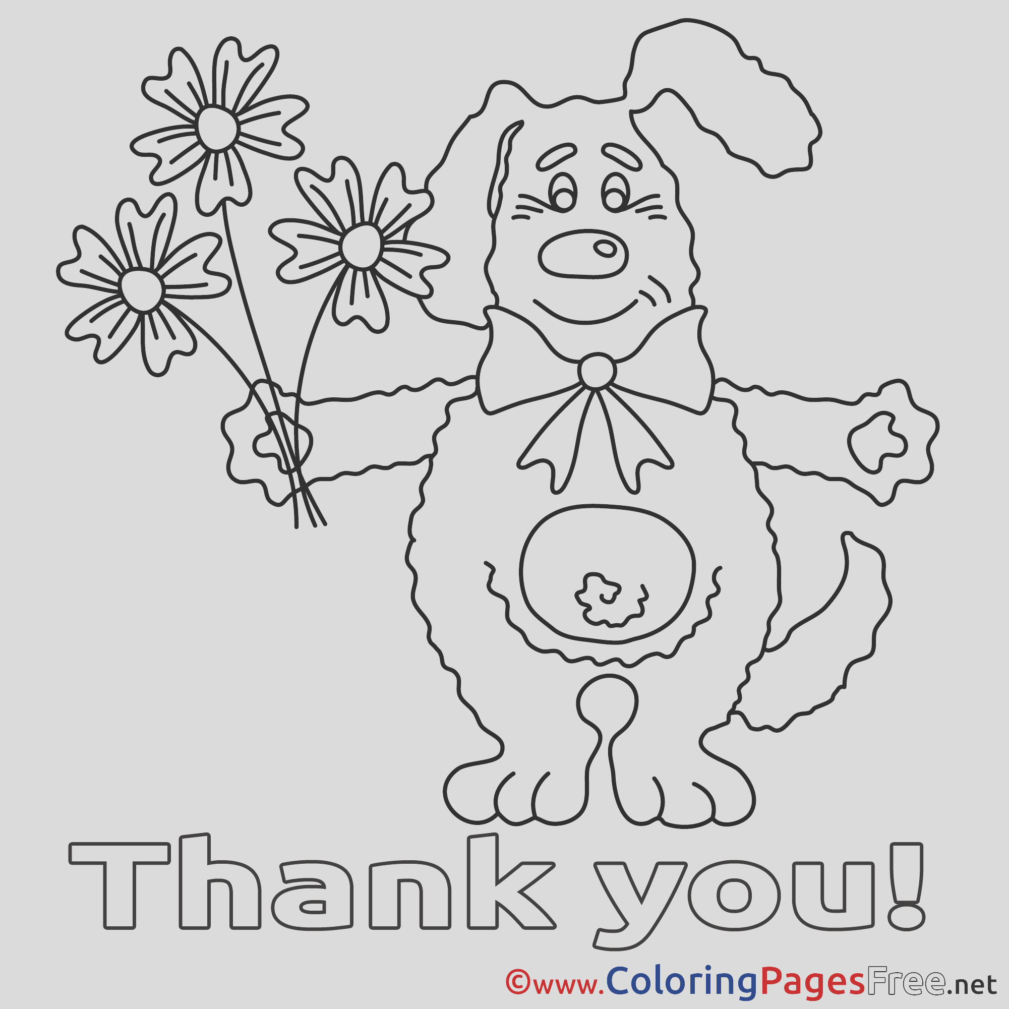 please and thank you coloring pages