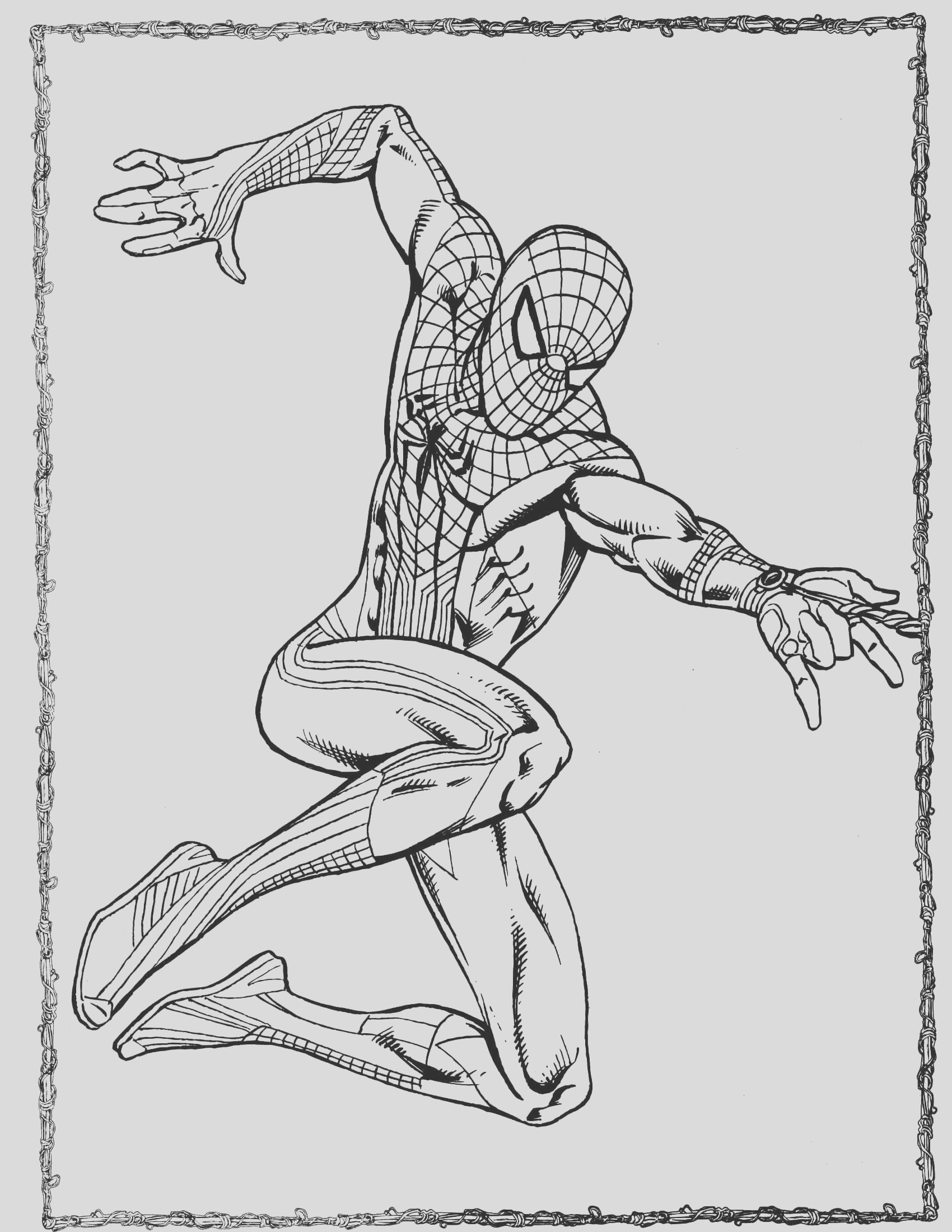 spider man coloring page 35
