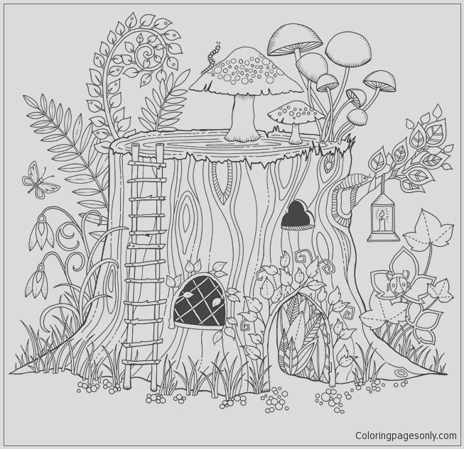 secret garden colouring book free