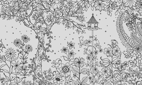 amazing secret garden coloring pages